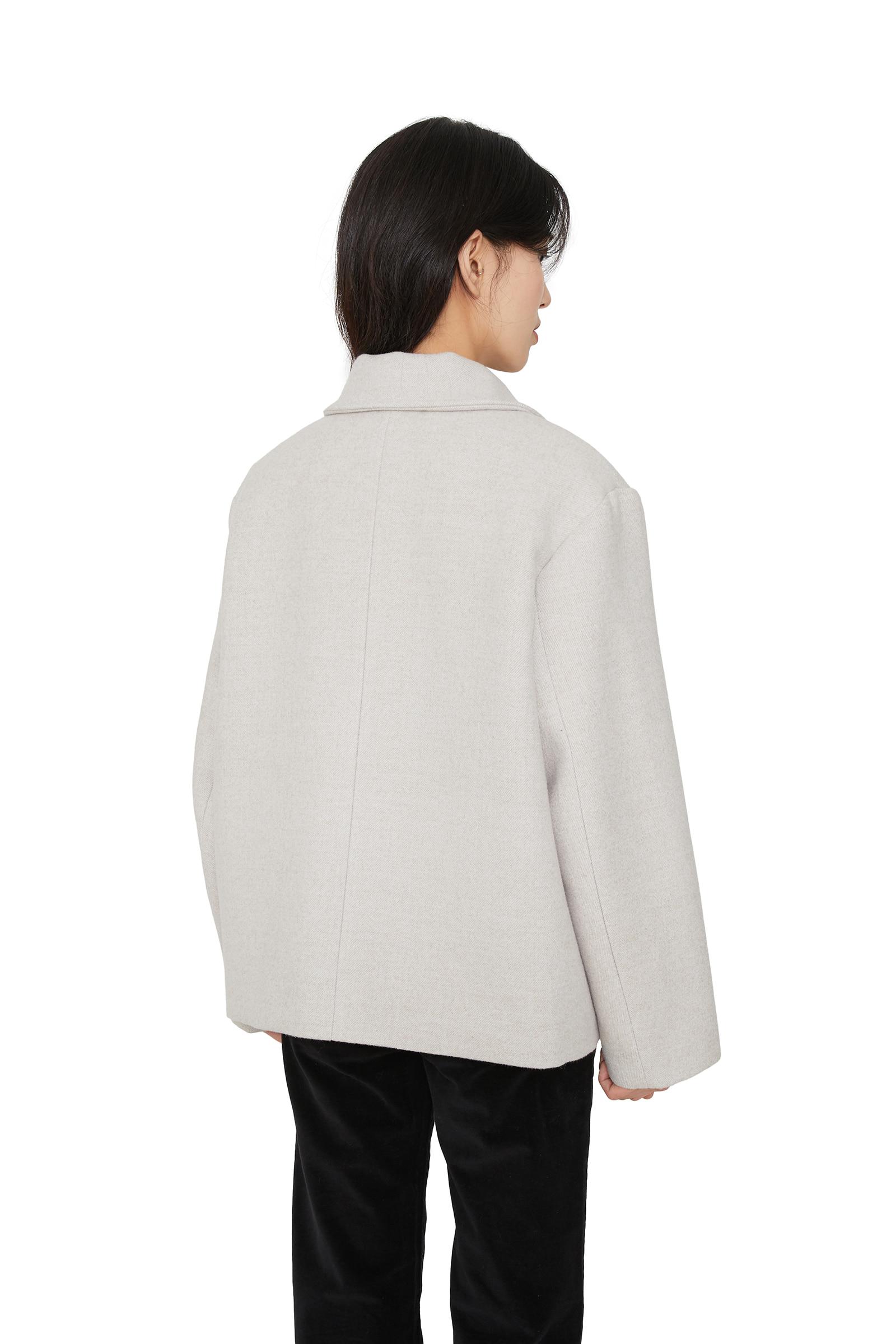 Has Round Collar Short Coat