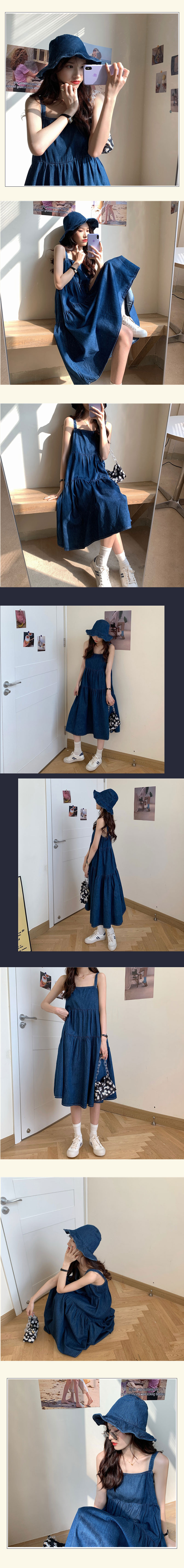 st1843 nobel denim dress set
