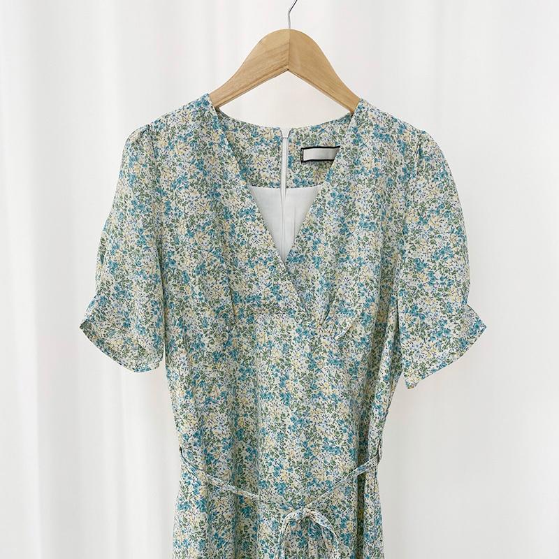 op1861 Sunshine Flower Long Dress