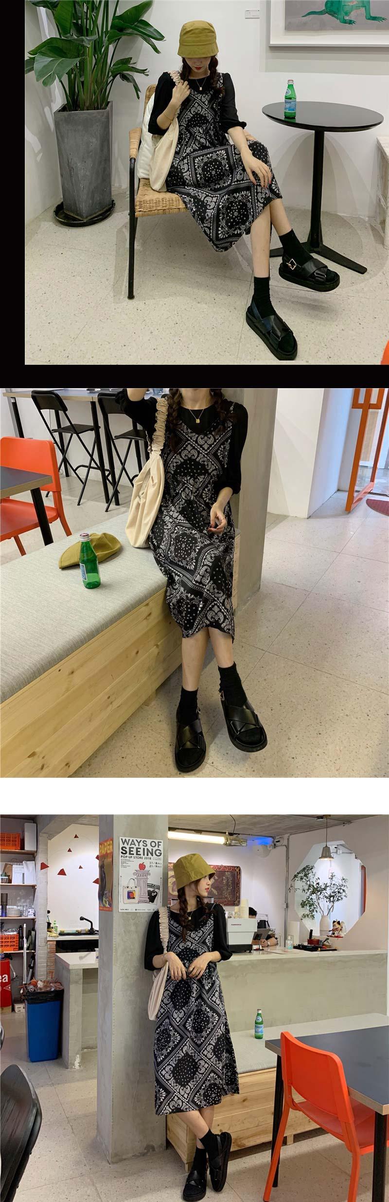op1886 Paisley Strap Sleeveless Dress