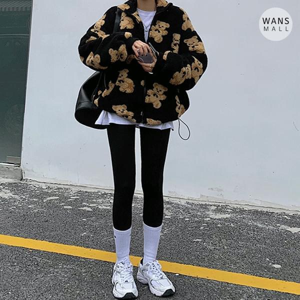 可愛泰迪熊圖拉鏈夾克外套 (人氣商品配送延遲)