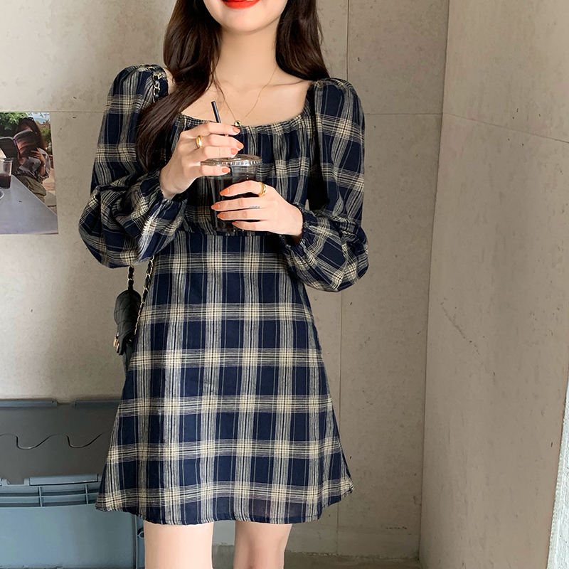 op2419 The Little Girl Last Check Dress