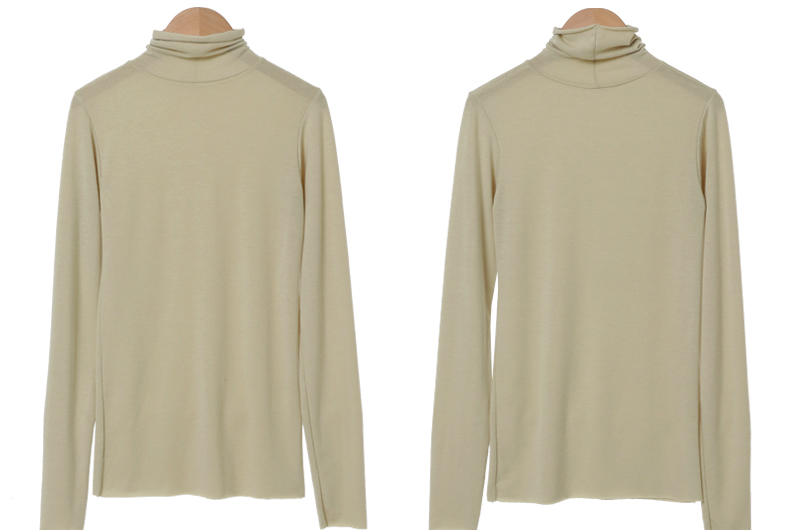 Maybe slim Turtleneck T-shirt