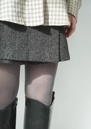 sheer pearl glitter stocking