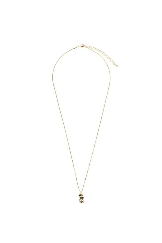 Stone drop necklace ネックレス
