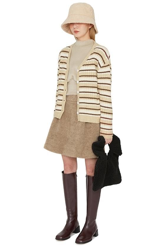 Bird shearling wool mini skirt 裙子