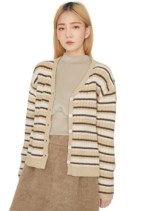 Dean striped cardigan 開襟衫