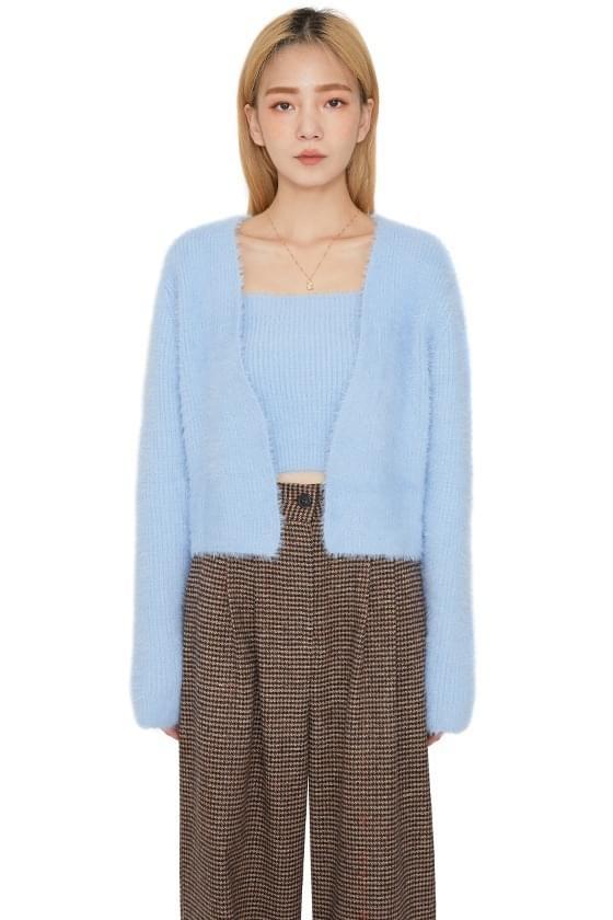Puppy Angora sleeveless set cardigan 開襟衫
