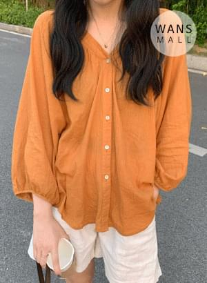 韓國空運 - bl2050 signal button blouse 襯衫