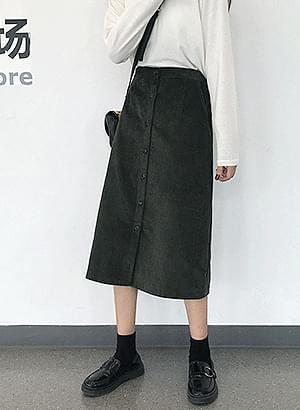 sk0382 golden button skirt