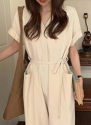 js1423 The Little Girl Daily Simple Jumpsuit