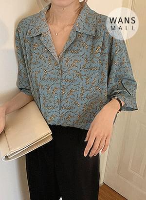 韓國空運 - bl1663 Meiji Flower Shirt Blouse 襯衫