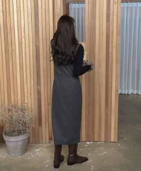 韓國空運 - Price Wool One Piece 及膝洋裝