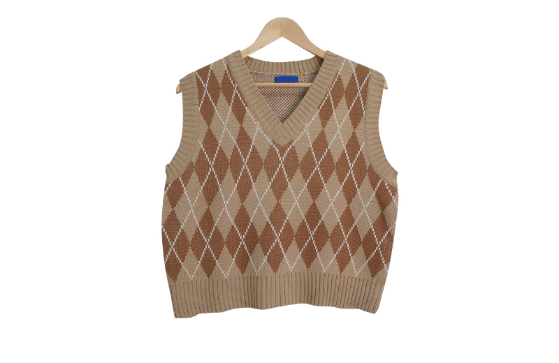Ray Argyle knitted vest