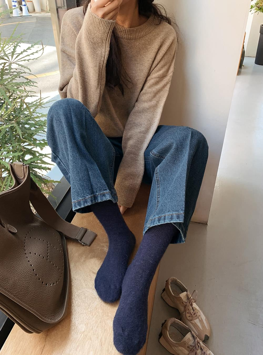 Angora Wool Knit Socks 襪子