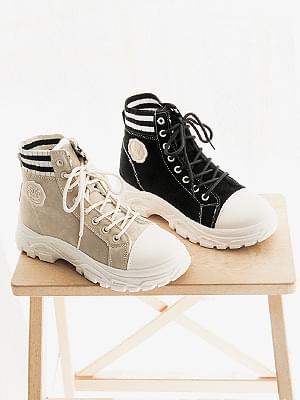 Lecatin high-top sneakers 4cm 球鞋/布鞋
