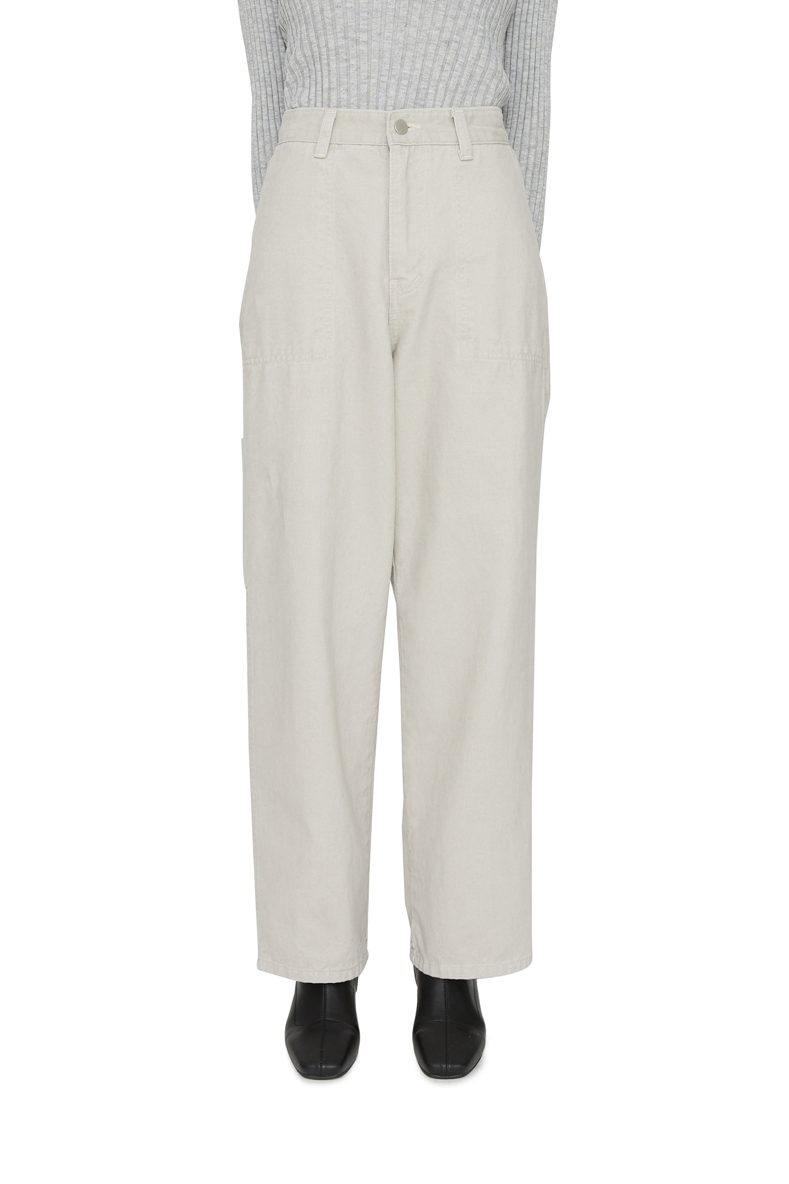Peach cargo straight trousers
