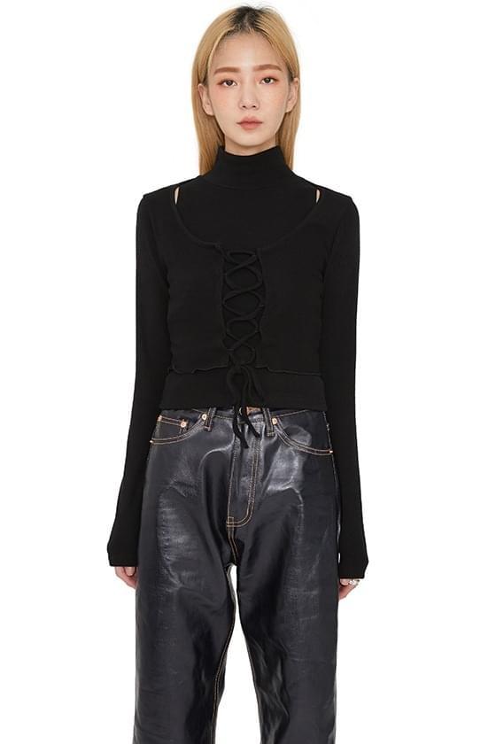 韓國空運 - Corset cardigan set top 針織外套