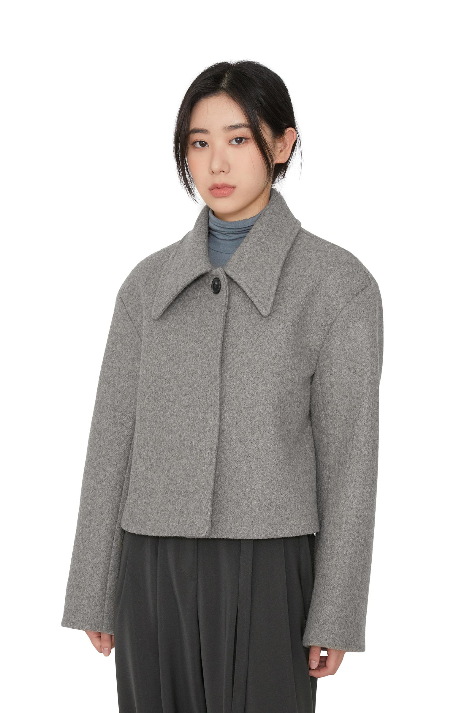Semi button single short coat