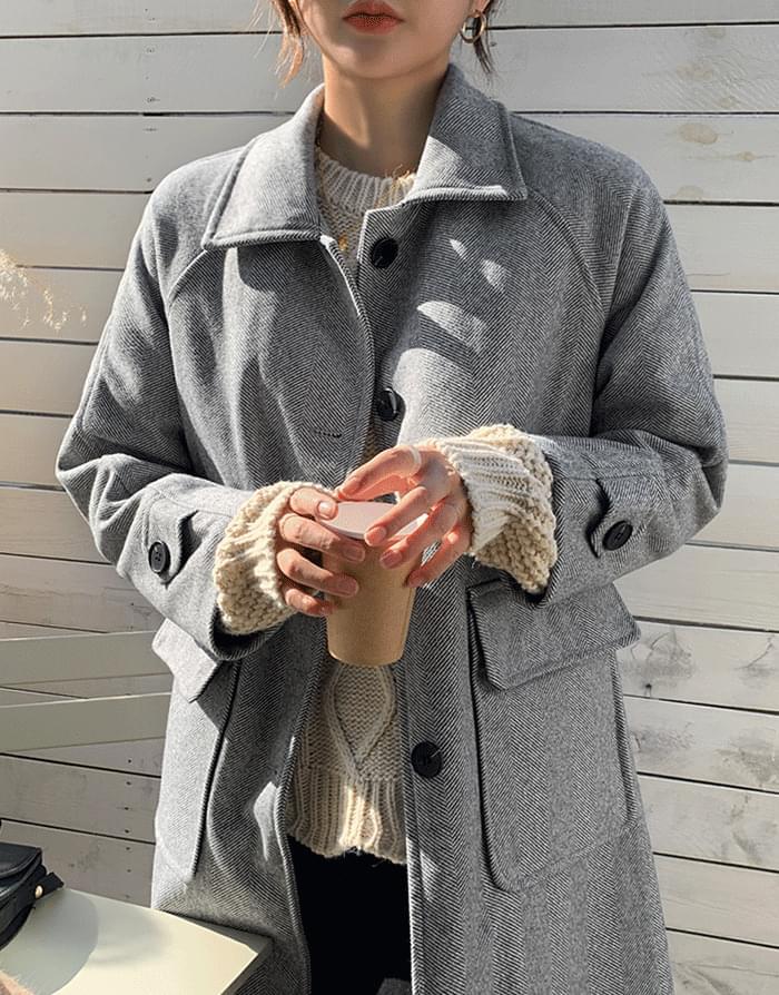 韓國空運 - Herring-Nubim Long Coat 大衣外套