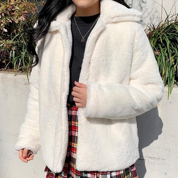 Small collar fur jacket 夾克外套