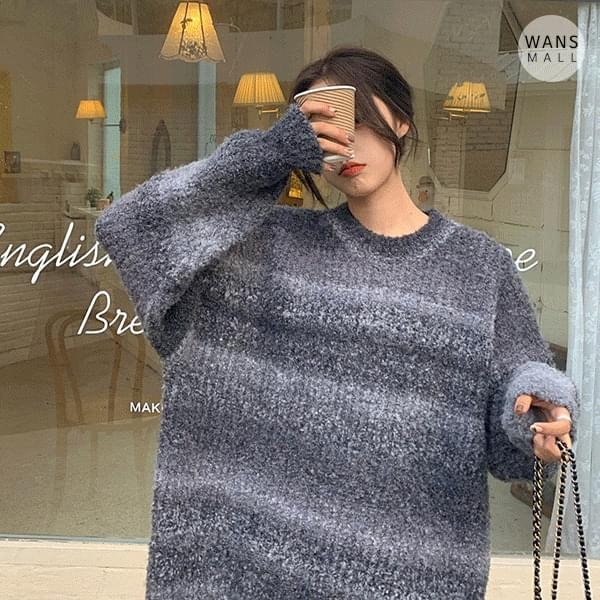 kn2882 poly gradient sweater (Delayed delivery)