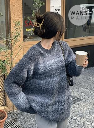 kn2882 poly gradient sweater