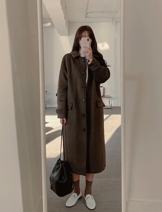 Collar long coat