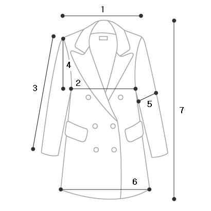 Hidden Button Handmade Coat-Wool 90