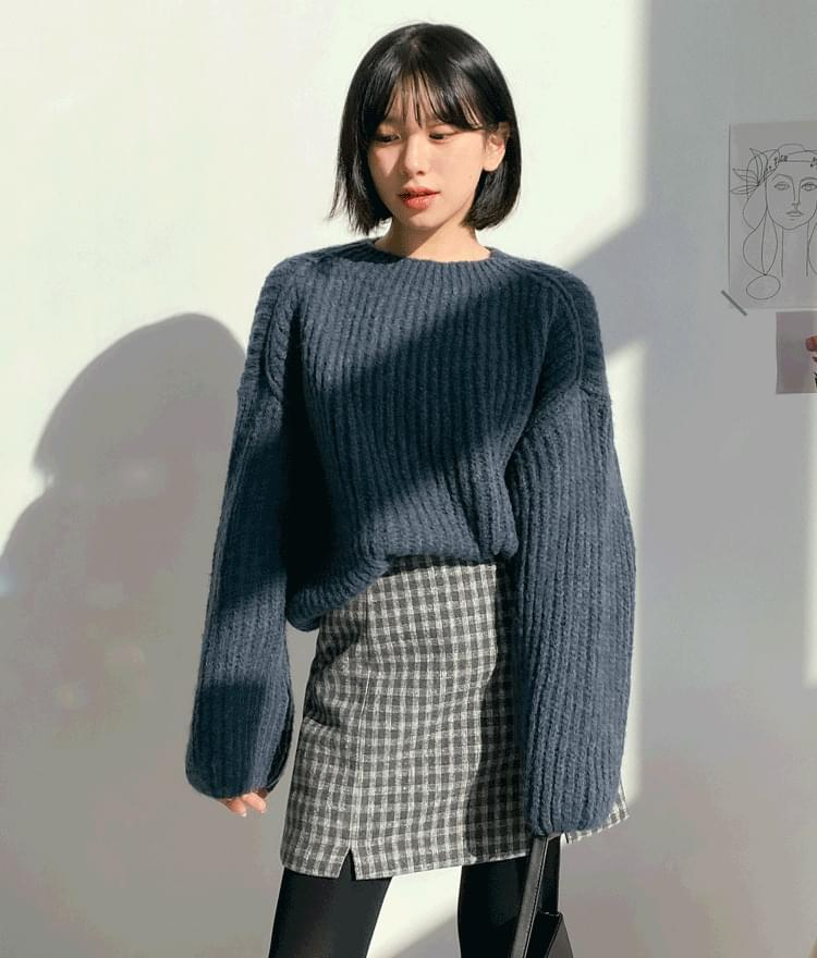 Shading balloon loose fit knit 針織衫