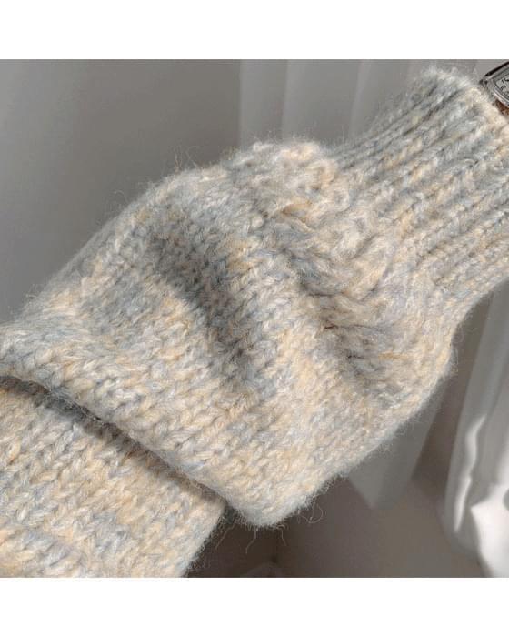 마시멜로 반목 보카시 knit - 3color (인기상품 배송지연)
