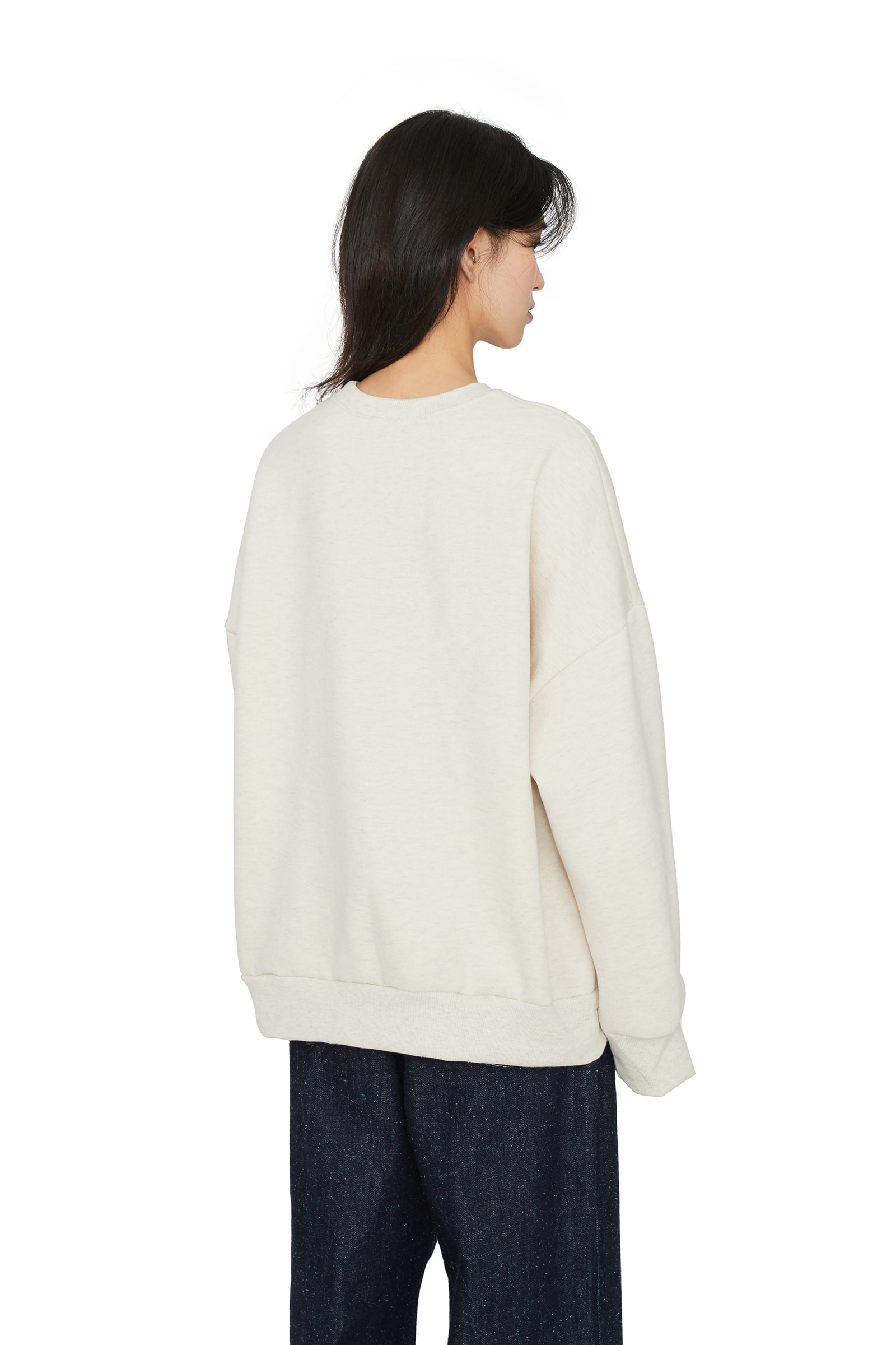 New York brushed crew neck sweatshirt