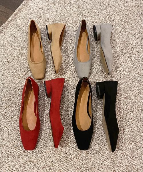 16 Suede flat shoes-4color