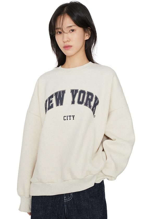 New York Fleece-lined crew neck sweatshirt