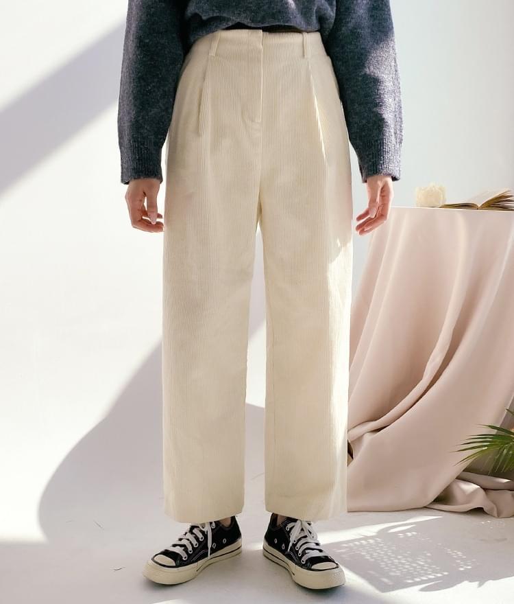 Marten corduroy wide trousers 長褲