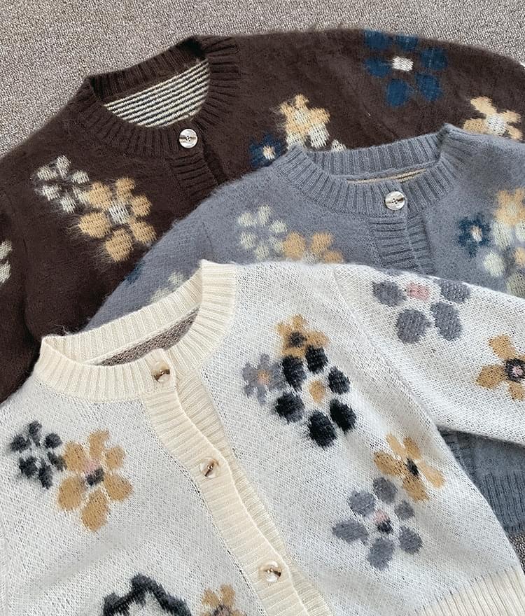 Maumau flower cardigan 開襟衫