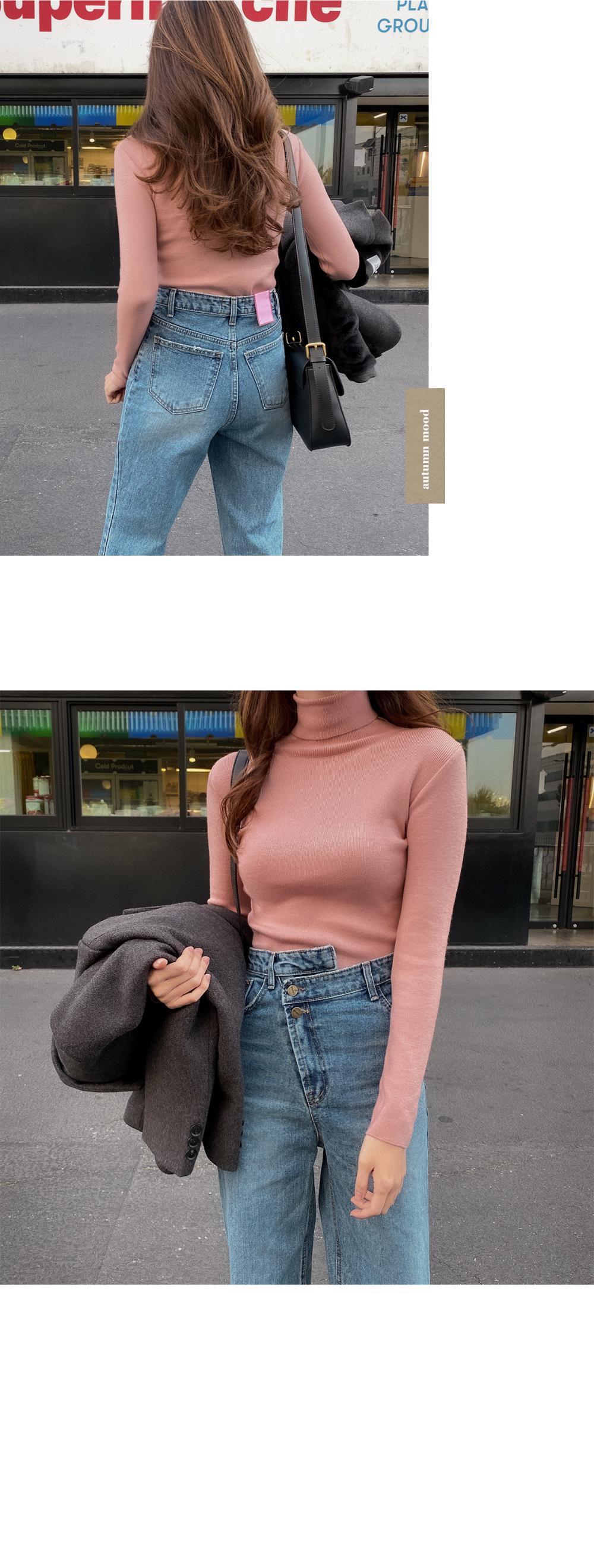 Baby Slim Turtleneck Knitwear-8color