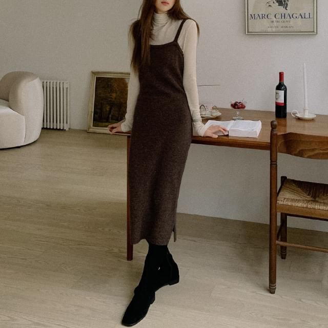 Indie Rams Wool Bustier One Piece 洋裝
