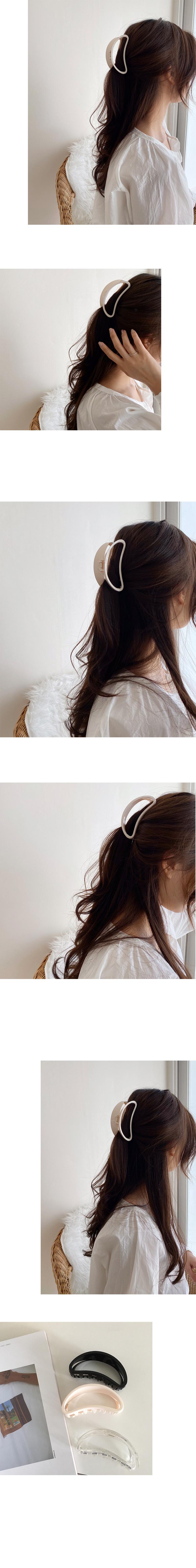 smile hair pin