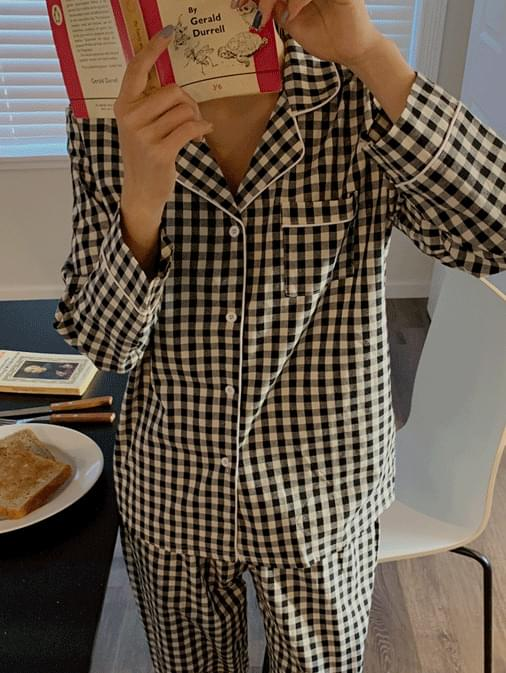Daniel Gobang Check Pajama Set