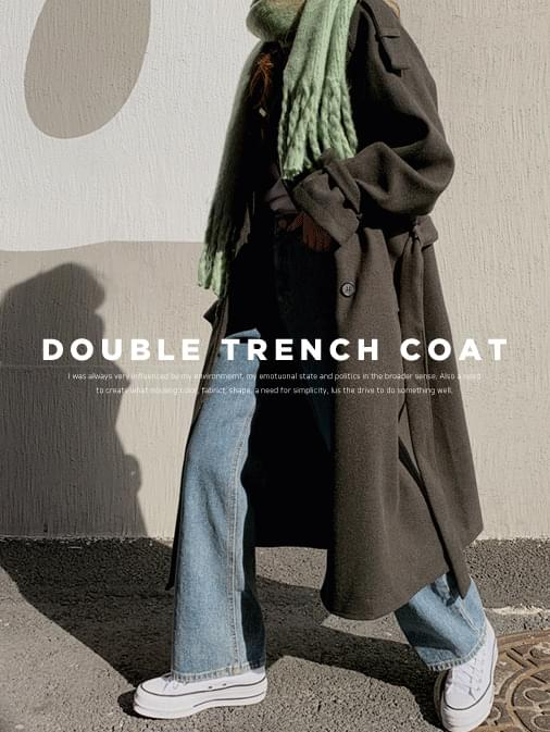 Daylot double trench long coat