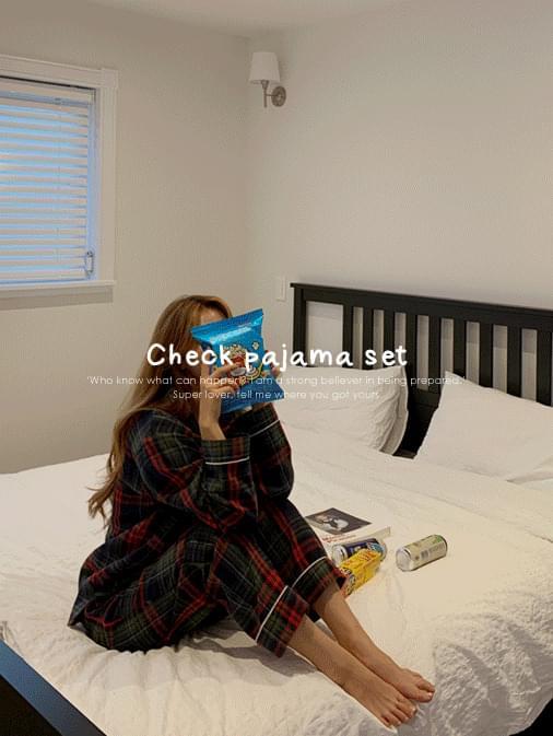 Chris Check Pajama Set