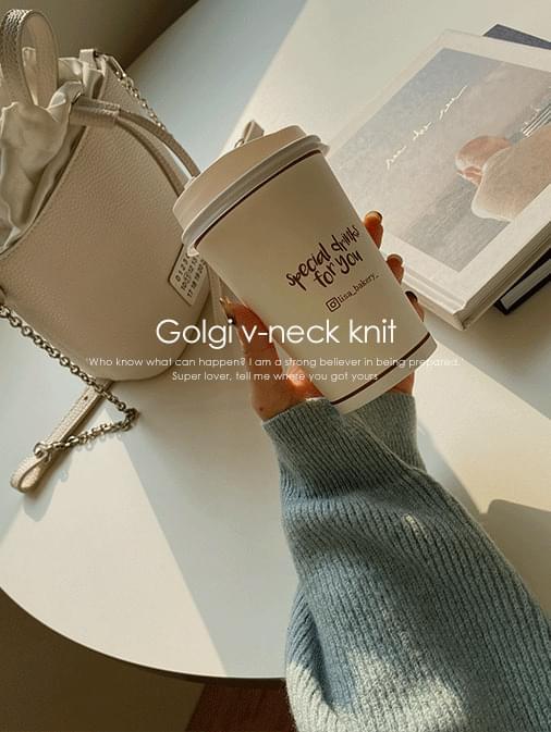 Soft Ribbed V-Neck Loose Fit Knit