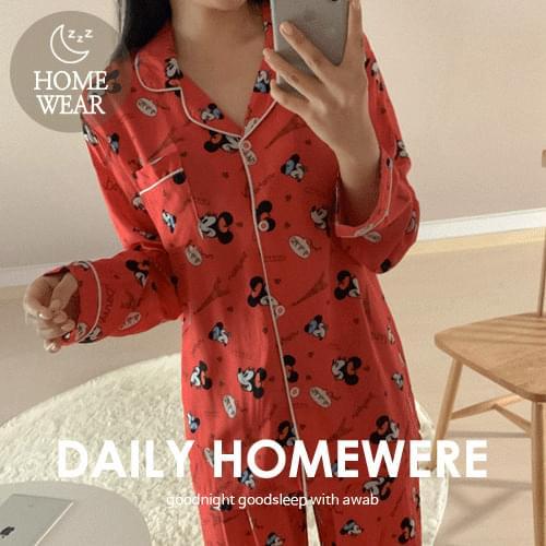 #homewear:_Color Miki Pajamas Set