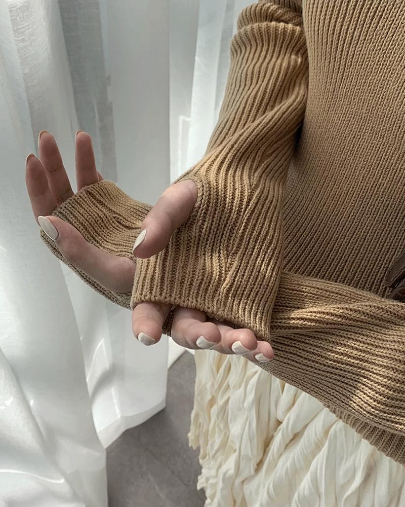 Cramble V-neck warmer knit (人気商品配送遅延) ニット