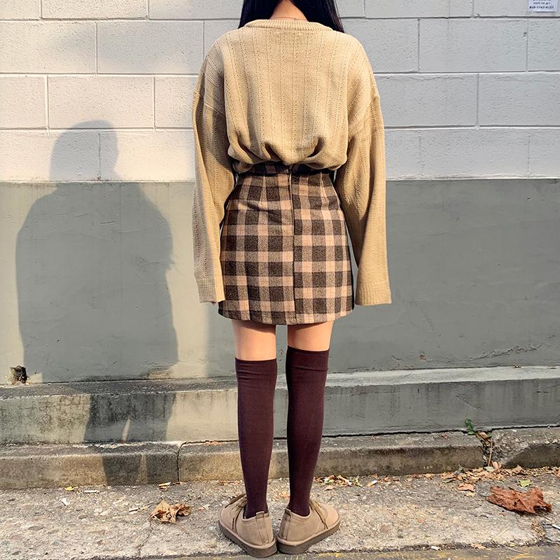 Tartan check mini skirt