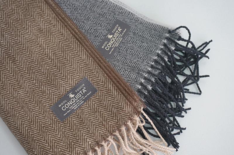 Herringbone soft shawl