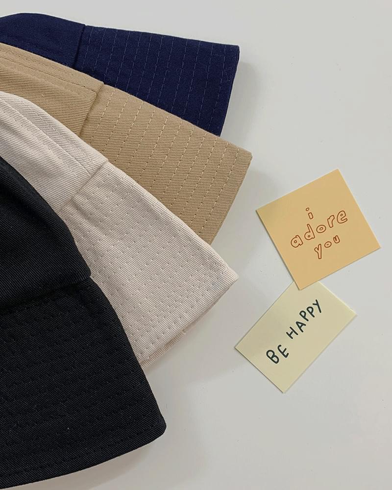 Cotton Basic Bucket Hat Bungee Hat