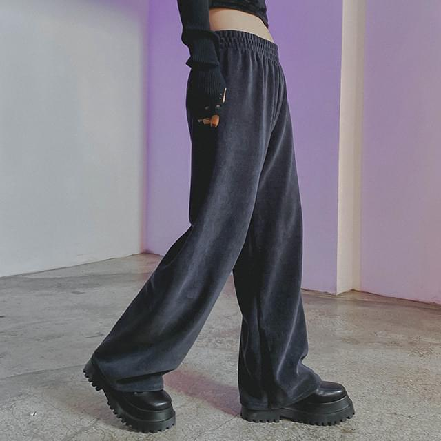 Cotton Velor Martin wide pants (Delayed delivery)