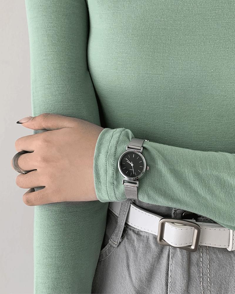 Mitsu basic metal watch